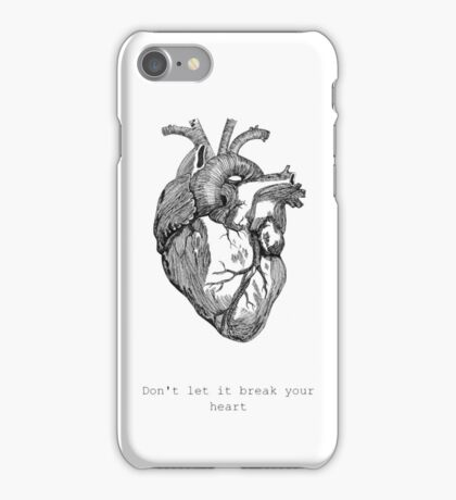 Don't let it break your heart - Coldplay iPhone Case/Skin
