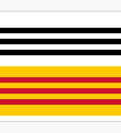 Flag of Loon op Zand Sticker