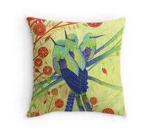 Hummingbirds Throw Pillow
