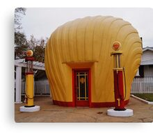 """Old Timey """"Shell Shaped"""" Shell Station Canvas Print"""