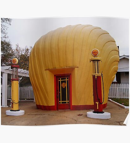 "Old Timey ""Shell Shaped"" Shell Station Poster"