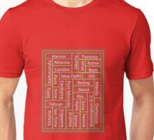 Cities of Some of The World Unisex T-Shirt