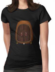 Glitch bag furniture cabinet firebog cabinet Womens Fitted T-Shirt