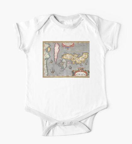 Map of Japan - Ortelius - 1603 One Piece - Short Sleeve