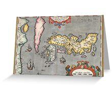 Map of Japan - Ortelius - 1603 Greeting Card