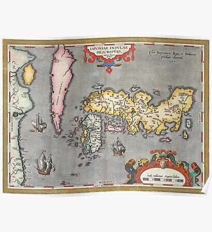 Map of Japan - Ortelius - 1603 Poster