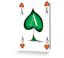 Lucky Ace of Spades by Tony Fernandes Greeting Card
