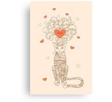 zen elegance cat with love Canvas Print