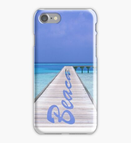 Beach with water and sand iPhone Case/Skin