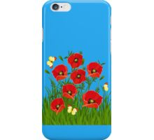 Poppies and Butterflies iPhone Case/Skin