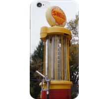 Antique Shell Oil Company Gas Pump iPhone Case/Skin