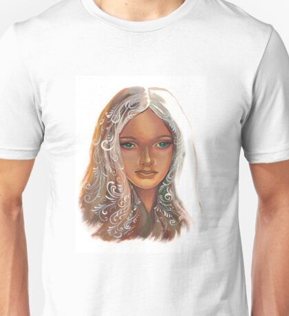 The girl with green eyes Unisex T-Shirt