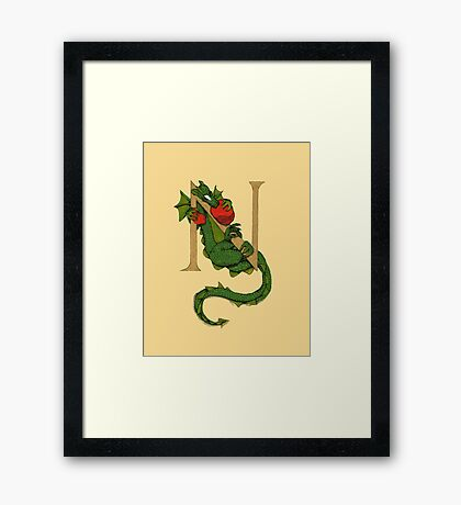 "Oscar and the Roses ""N"" (Illustrated Alphabet) Framed Print"