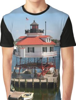 Drum Point Lighthouse, Patuxent River, Maryland Graphic T-Shirt