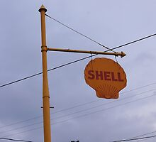Antique Shell Sign by paulboggs
