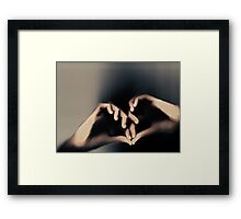 Another way to love Framed Print