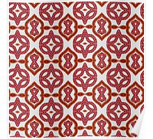 Red Roses and Yarn Decorative Grid Poster