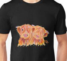 HIGHLAND COWS 'BUDDIES' By Shirley MacArthur Unisex T-Shirt