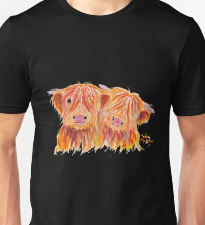 HIGHLAND COWS 'BUDDIES' By Shirley MacArthur Unisex T-Shirt