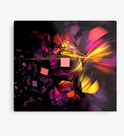 Violet Satin Honeycomb Metal Print