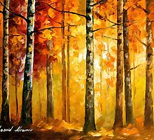 Hidden Trees (new) — Buy Now Link - http://goo.gl/3p5d7I by Leonid  Afremov