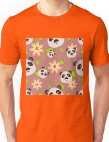 Panda and Flowers Unisex T-Shirt