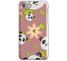 Panda and Flowers iPhone Case/Skin