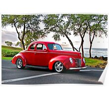 1940 Ford Coupe 'Seaside Parkway' I Poster