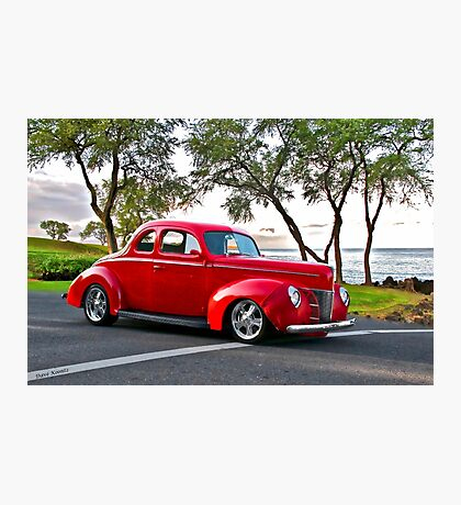 1940 Ford Coupe 'Seaside Parkway' I Photographic Print