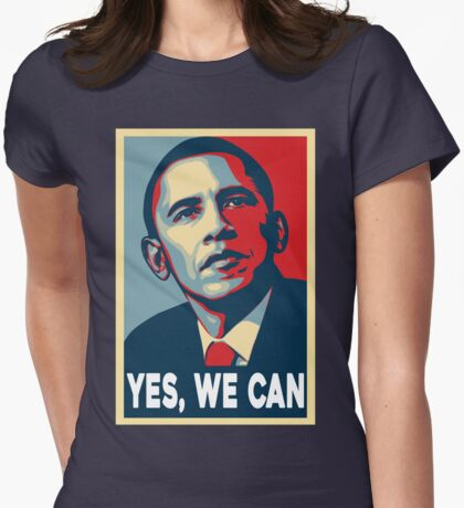 OBAMA - YES WE CAN Womens Fitted T-Shirt