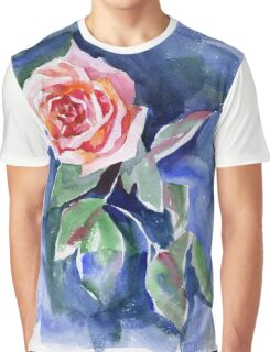 Watercolor rose Graphic T-Shirt