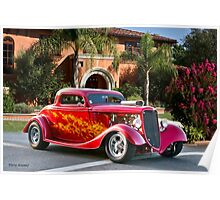 1934 Ford 'Cruz'n the Hood' Coupe Poster
