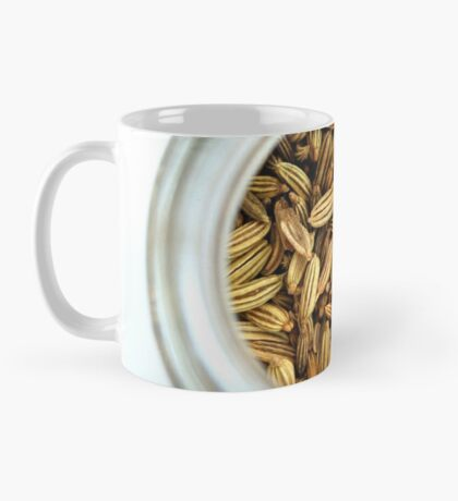 Aromatic Exotic Striped Indian Cuisine Fennel Seeds in Jar Mug