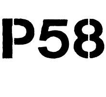 P58 - LOGO BLACK ON WHITE OR LIGHT by platform58