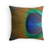 Peacock Feather (detail 1) Throw Pillow