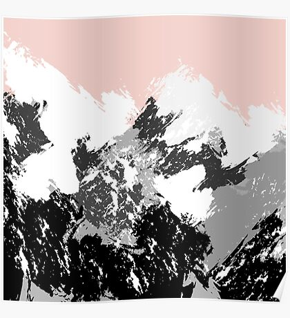 Mountainscape. Abstract nature. Poster