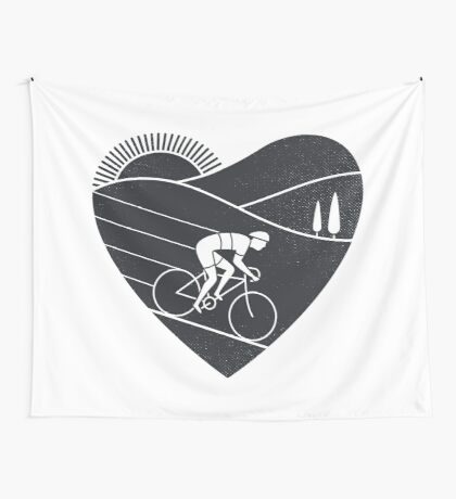 Love Cycling  Wall Tapestry