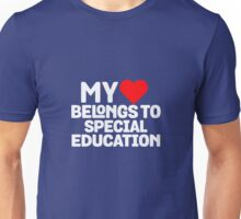 My Heart Belongs To Special Education Unisex T-Shirt