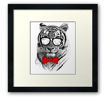 Be Tiger Smart Framed Print