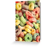 Colourful Fun Abstract Food Art Kitchen Diner Breakfast Cereal Greeting Card