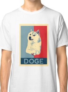 DOGE - doge shepard fairey poster with dog red / blue Classic T-Shirt