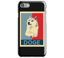 DOGE - doge shepard fairey poster with dog red / blue iPhone Case/Skin