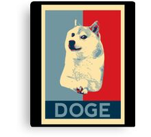 DOGE - doge shepard fairey poster with dog red / blue Canvas Print