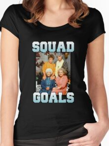 Golden Girls Squad Goals Women's Fitted Scoop T-Shirt