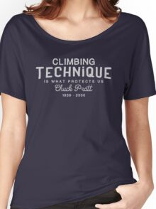 Climbing Technique Is What Protects Us Women's Relaxed Fit T-Shirt