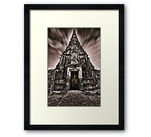 Buddhist temple ruins Framed Print
