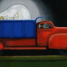 Light Load - painting by LindaAppleArt
