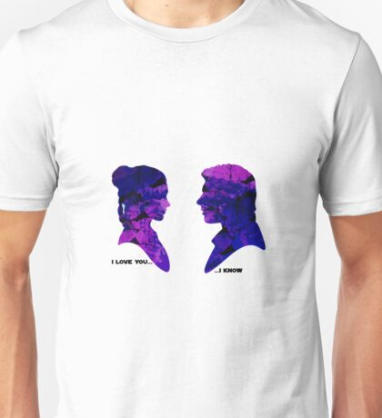 Princess Leia and Han Solo - I Love you, I know Unisex T-Shirt