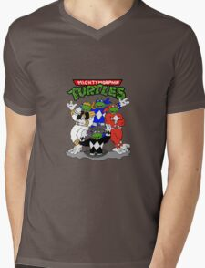 Mighty Morphin Turtles  Mens V-Neck T-Shirt