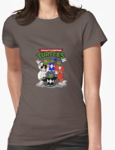 Mighty Morphin Turtles  Womens Fitted T-Shirt